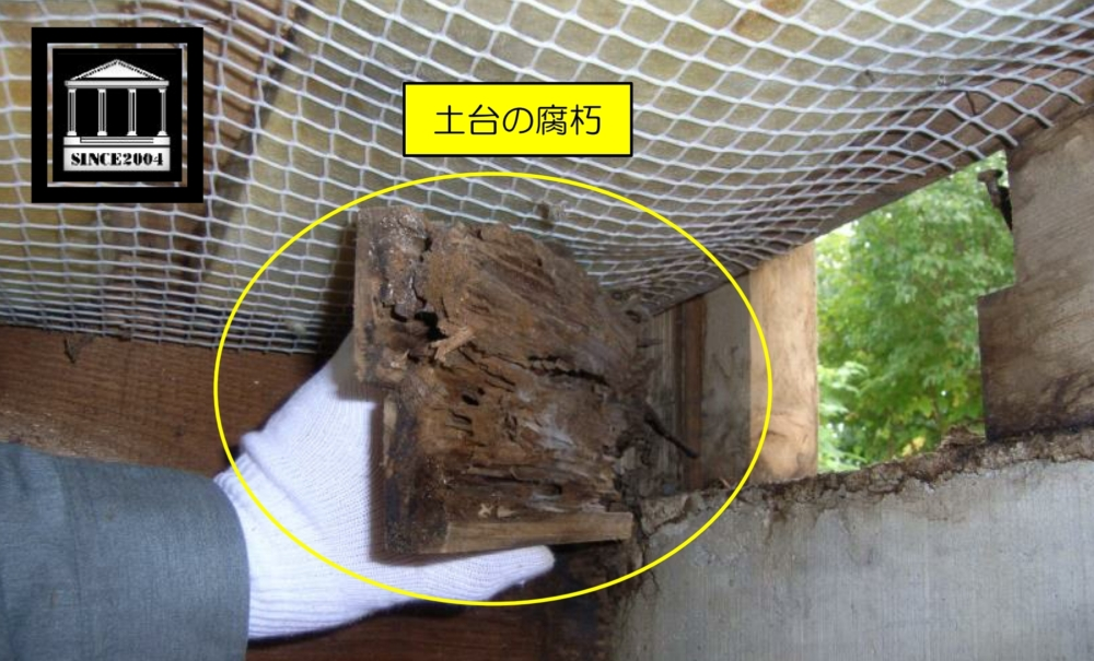 土台の劣化 漏水