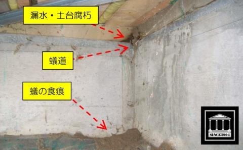漏水 土台 腐朽 蟻害